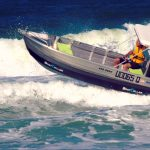 """Even taking waves/wake the """"wrong"""" way is safer and easier with a Kapten Boat Collar"""