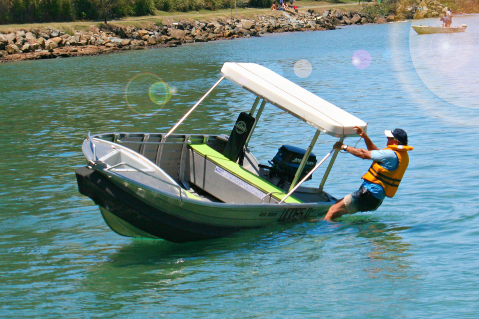 Can't capsize the boat with the Boat Collar