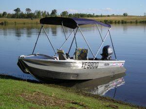 3.7m Quintrex Dart with a Kapten Boat Collar