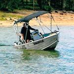 3.9m Stessl BEFORE Boat Collar - dangerous