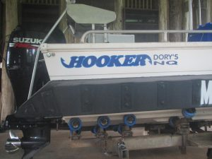 6 metre fibreglass Hooker with Kapten Boat Collar