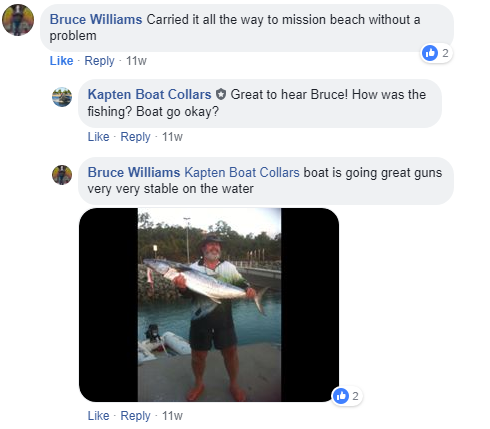 Bruce's facebook comments