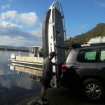 Bob & son launching their 370 Quintrex Explorer in Sydney.
