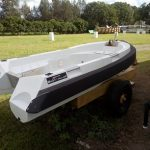 3m Poly Craft Tuff-Tender with custom finished transom end on Collar.