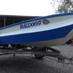 Craig's 3.3m Savage with painted Collar and freshly painted boat.