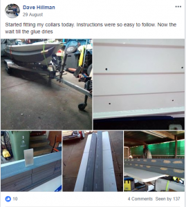 Dave's Facebook Review on his installation