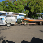 Gary's rooftopper and 7.3m long boat, both fitted with Boat Collars for NT trip.