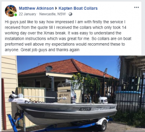 Matt's Facebook review on installation & service
