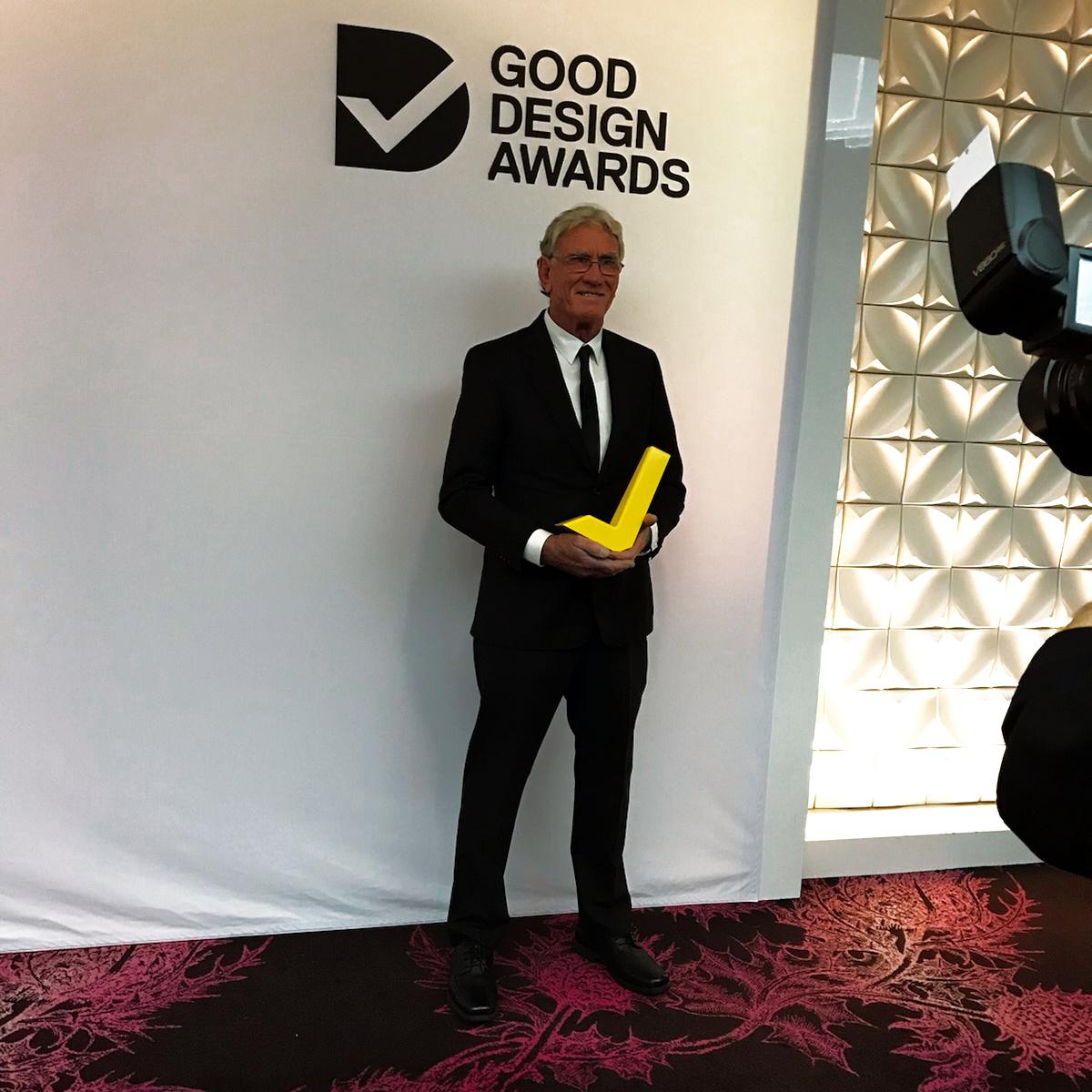 "Pat recieving his gold ""tick"" award. 11.07.2019"