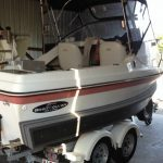fibreglass boat with Boat Collar, fitted by chemi-weld method