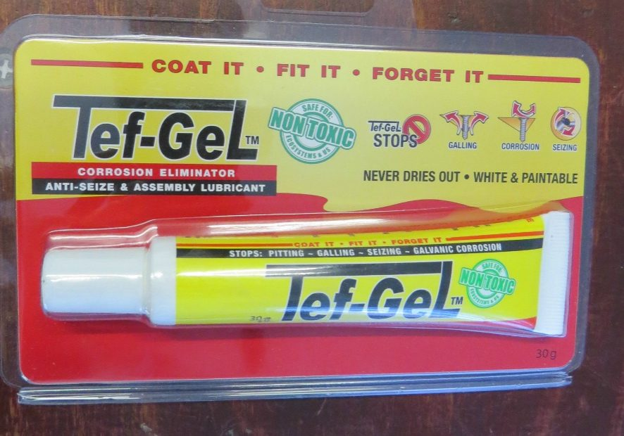 Tef-Gel: sticky non corrosive for screws
